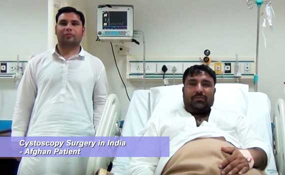 Cystoscopy Surgery in India Afghan Patient Successfully Done